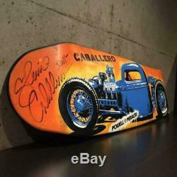 POWELL PERALTA BLUE HOTROD Skateboard deck Signed by Steve Caballero Collectors