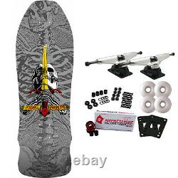 Powell Peralta Skateboard Complete Geegah Skull Sword Silver Re-Issue