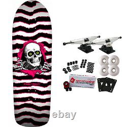 Powell Peralta Skateboard Complete Old School Ripper White/Pink 10 x 31