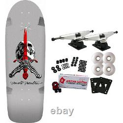 Powell Peralta Skateboard Complete Rodriguez Skull and Sword Silver Re-Issue