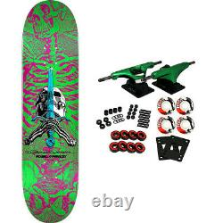 Powell Peralta Skateboard Complete Skull and Sword Pink/Green 8.0 x 31.45