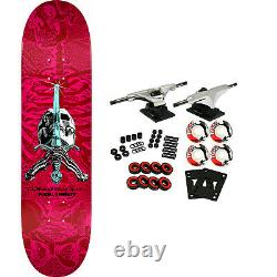 Powell Peralta Skateboard Complete Skull and Sword Pink/Red 8.5 x 32