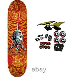 Powell Peralta Skateboard Complete Skull and Sword Red/Yellow 8.0 x 31.45