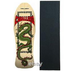 Powell Peralta Skateboard Deck Caballero Chinese Dragon Natural Re-Issue WithGrip