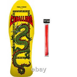 Powell Peralta Skateboard Deck Caballero Chinese Yellow + Red Rails