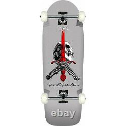 Powell Peralta Skateboard Skull and Sword Silver Re-Issue Old School Assembled