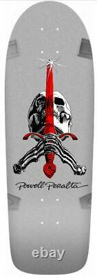 Powell Ray Bones Skull & Sword Silver Reissue Deck-10x30 WithGrip & Parts