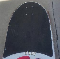 Vintage 1981 Powell Peralta Mike McGill F-14 Fighter Jet White Skateboard SIMS