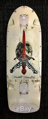 Vintage Powell Peralta Skull and Sword skateboard deck 1980's