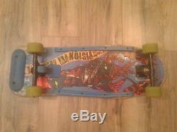 Vintage VISION Lobster Tail complete skateboard with Powell Peralta G-Bones